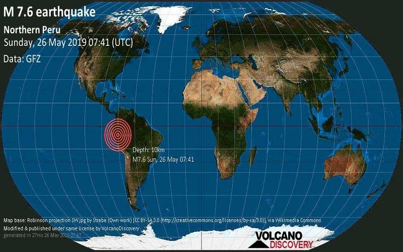 Tin nóng: Động đất 8.0 độ richter khiến Peru rung chuyển