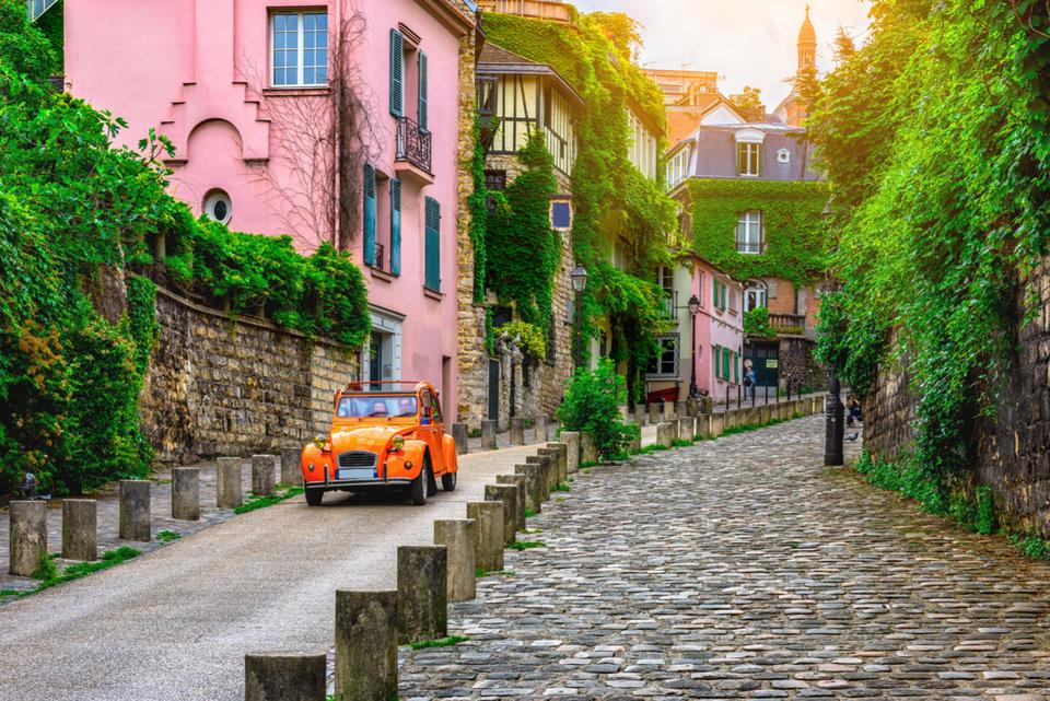 Khu Montmartre Pháp, đường xá xinh đẹp