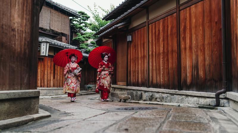 đường xá ở Kyoto Nhật bản đầy cổ kính