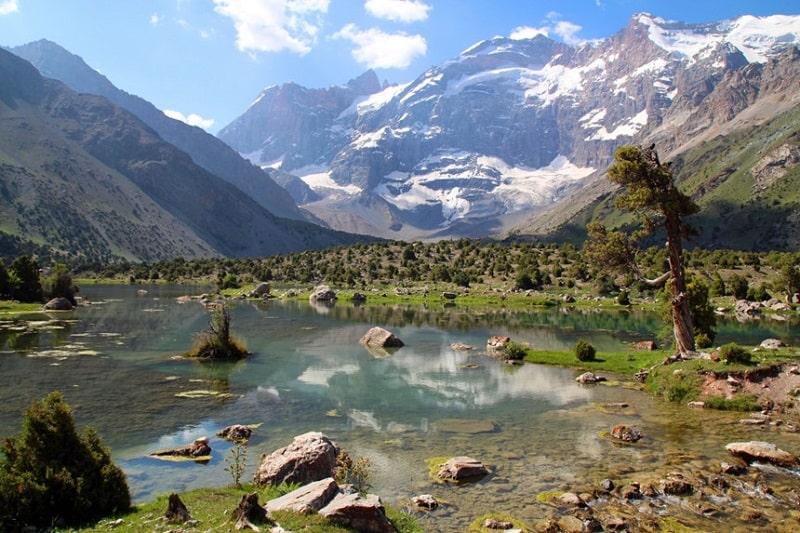 Tajikistan có độ cao trung bình địa hình cả nước