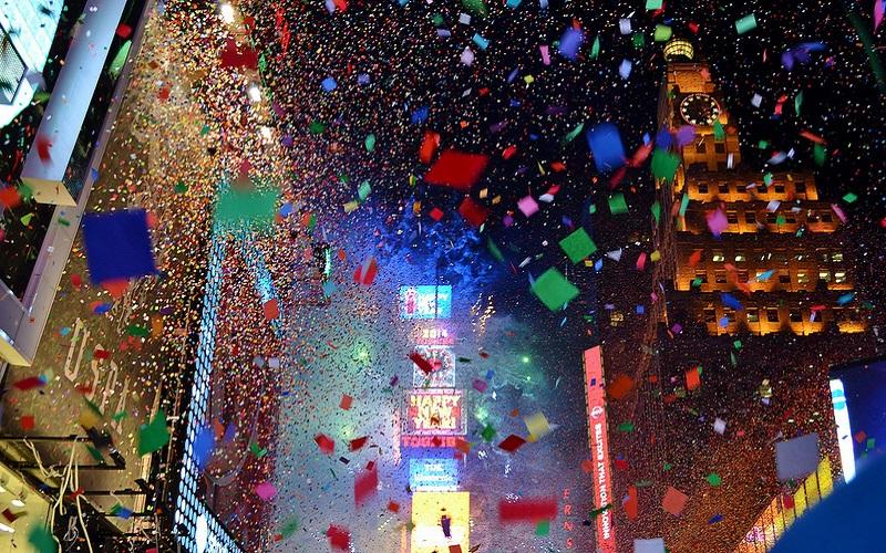 """Người dân New York hào hứng với """"Bức tường điều ước"""" trước thềm năm mới"""