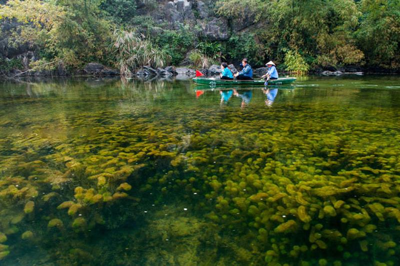 Dạo thuyền ngắm cảnh núi non hùng vĩ giữa dòng nước xanh