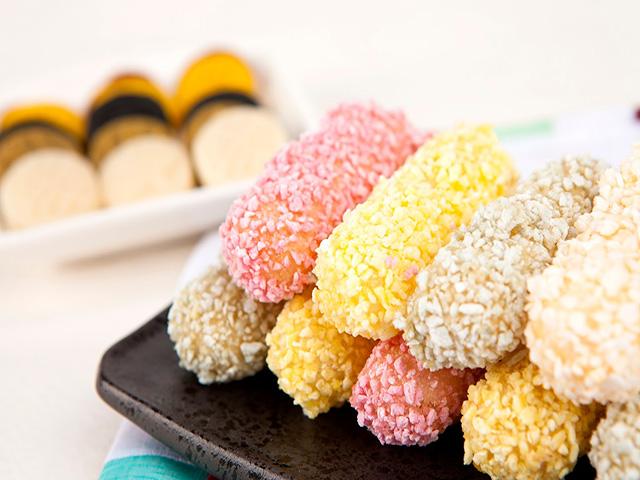 Kẹo Yugwa ngày nay có khá nhiều màu sắc