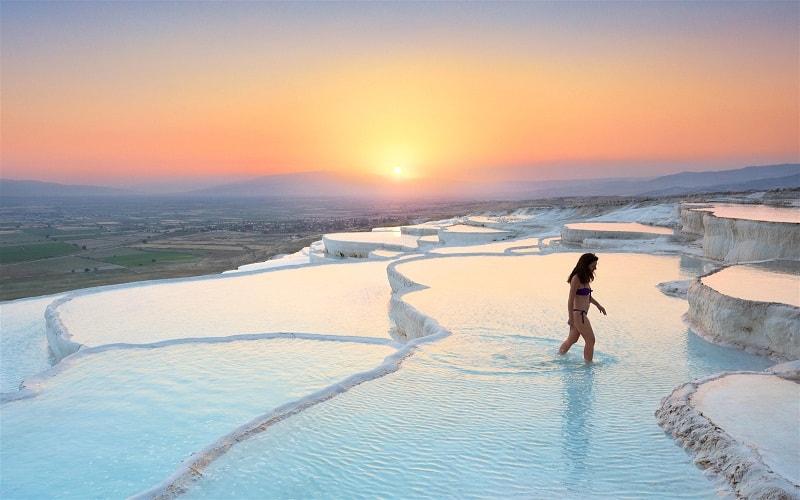 Hồ bơi nhiệt Pamukkale, Tỉnh Denizli, Tây Nam Thổ Nhĩ Kỳ