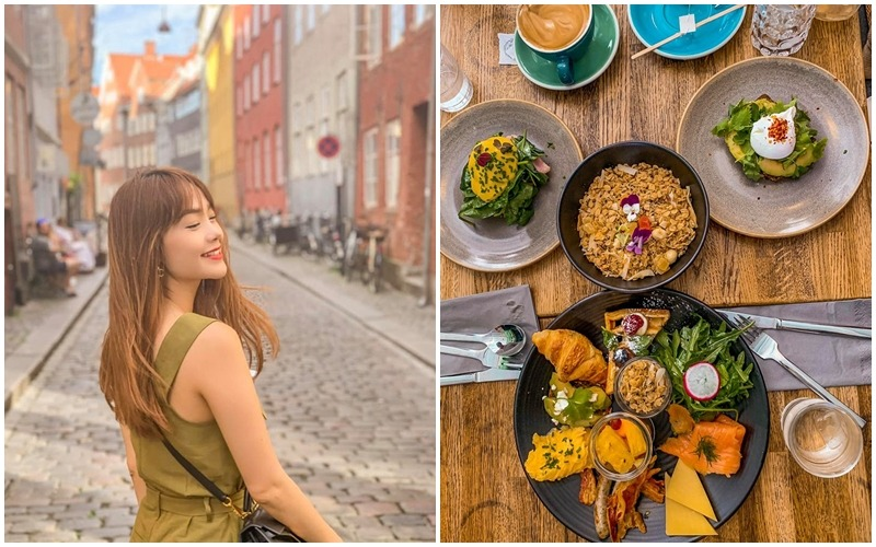 """Minh Hằng tận hưởng chuyến du lịch """"ăn ngập mặt"""" ở Đan Mạch"""