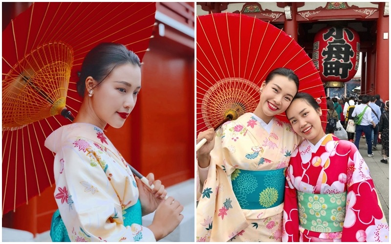 Á hậu Hoàng Oanh cùng em gái du hí xứ sở mặt trời mọc Nhật Bản