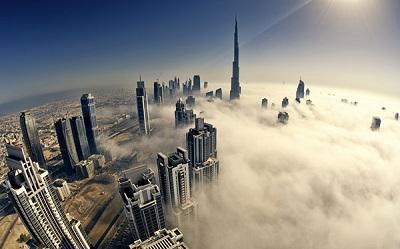 Ngỡ ngàng trước vẻ đẹp của thành phố Dubai.