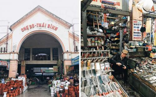 Có một khu chợ trầm lặng giữa lòng thành phố Thái Bình nhộn nhịp
