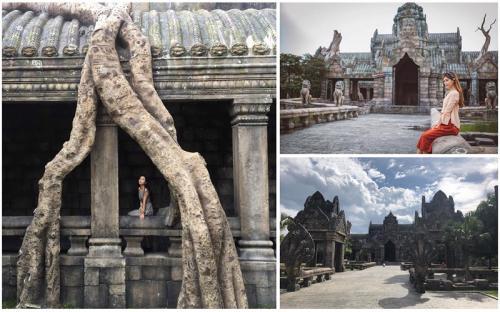 Cần gì sang tận Campuchia vẫn có ảnh check in với đền Angkor Wat đẹp ma mị!