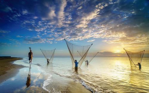 Biển Ba Động xanh ngát ở Trà Vinh