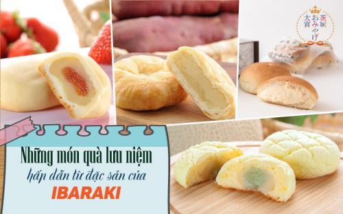 10 món quà lưu niệm hấp dẫn được lựa chọn từ đặc sản của Ibaraki