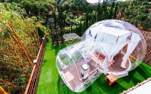 Đà Lạt xuất hiện căn phòng bong bóng y hệt Bali khiến dân tình phát sốt