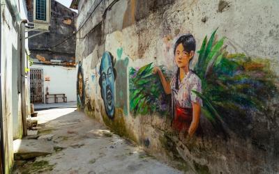 Tìm đến những bức bích hoạ bị 'bỏ quên' ở Penang