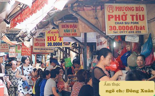 """Ẩm thực ngõ chợ Đồng Xuân đã ăn là """"nghiện"""""""