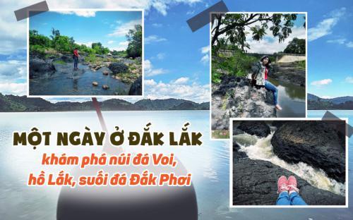 Một ngày ở Đắk Lắk - khám phá núi đá Voi, hồ Lắk, suối đá Đắk Phơi