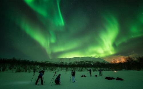 Đi tìm cực quang, ánh sáng kỳ diệu trên bầu trời bắc Thụy Điển