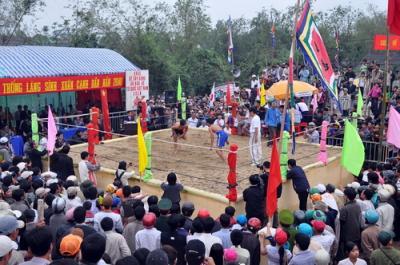 Độc đáo lễ hội vật làng Sình
