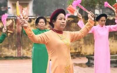 Múa giáo cờ giáo quạt – điệu múa cổ 'độc nhất vô nhị' ở Thái Bình