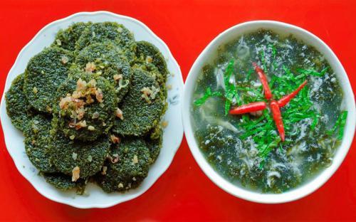 Này bánh rau Cạo biển Quỳnh!