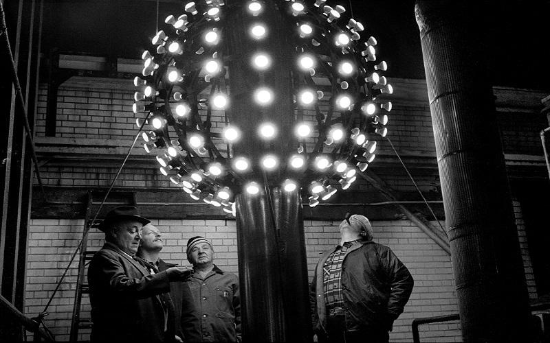 Mỹ: Quảng trường Thời đại đón năm mới qua những tấm ảnh không màu
