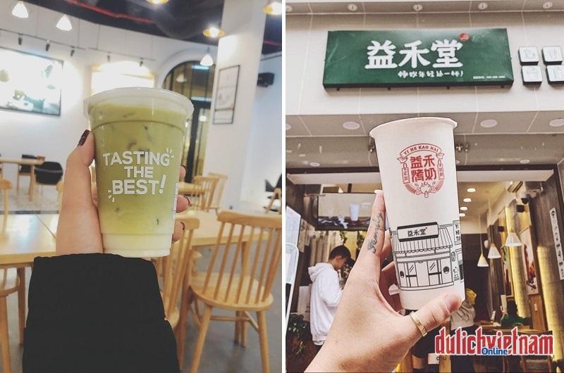 Hà Khẩu có rất nhiều tiệm trà sữa ngon