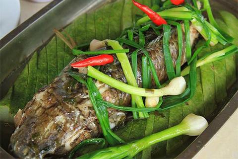 Cá lóc hấp bầu - ẩm thực miền Tây