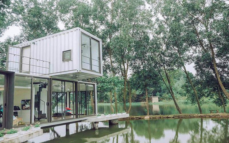Truy lùng tọa độ biệt thự nhà kính nổi giữa hồ xát xịt thủ đô