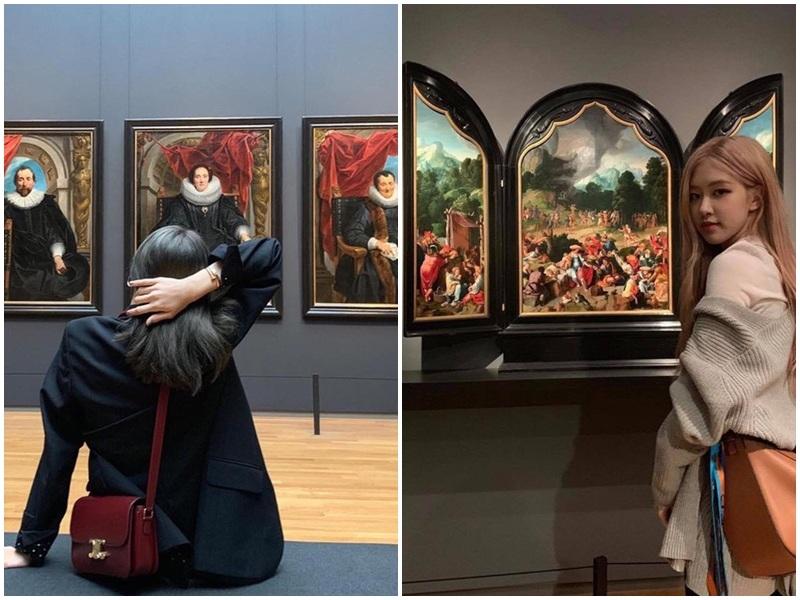 Lisa và Rosé đến thăm bảo tàng Rijksmuseum