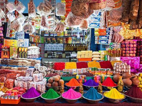 Sắc màu rực rỡ ở những khu chợ đường phố New Delhi