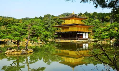 Tới thăm chùa Gác Vàng ở Nhật Bản