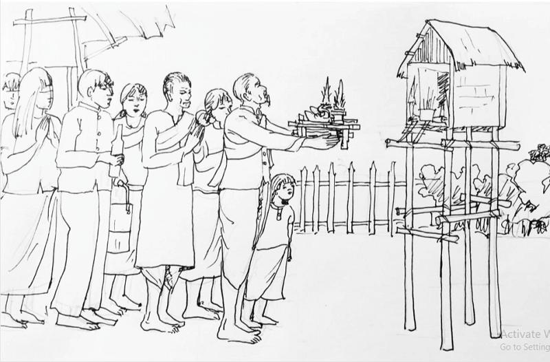 con đường bích họa văn hóa Khmer