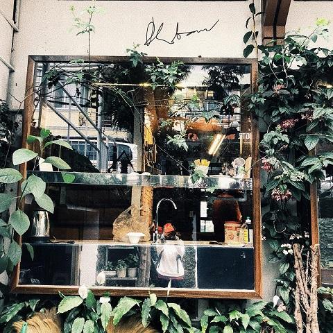 Tiệm cà phê ở khu Hòa Bình