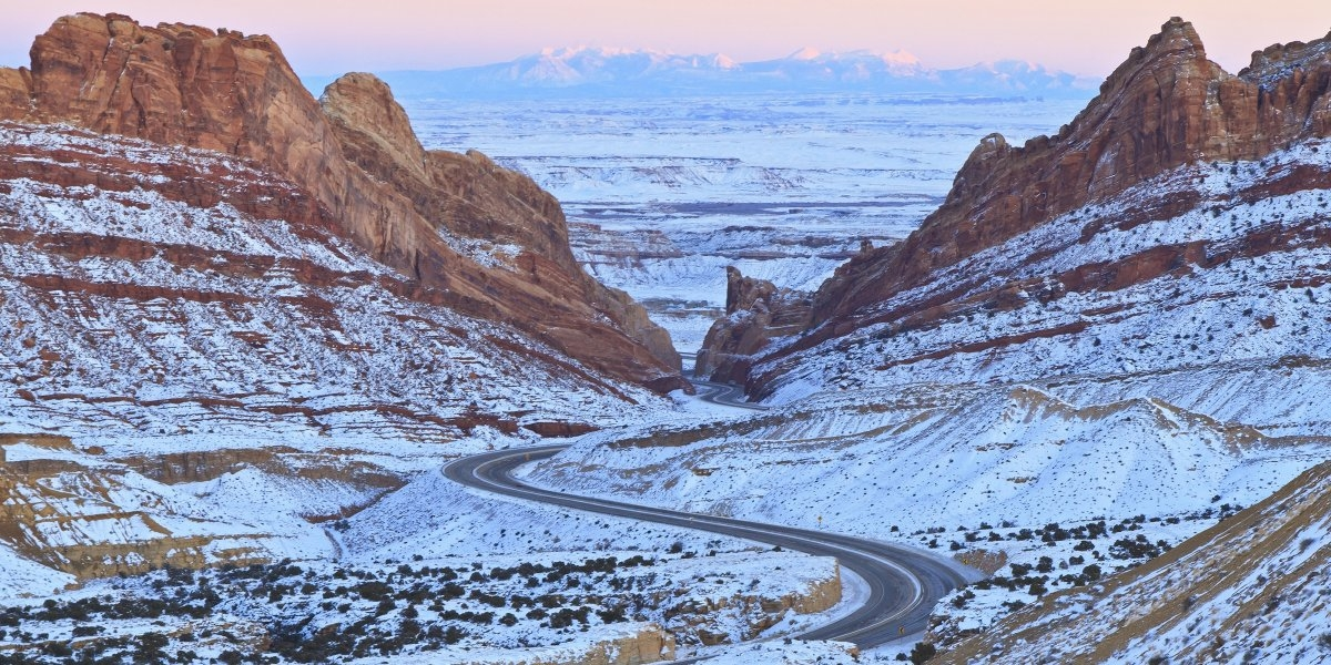Con đường chạy qua xứ Utah