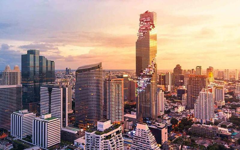 King Power Mahanakhon có chiều cao 314m, 77 tầng, hiện đang là tòa nhà cao nhất Thái Lan.