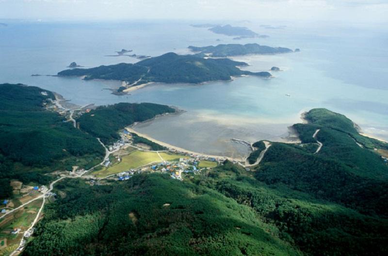 View trên cao nhìn xuống ở đảo Deokjeokdo