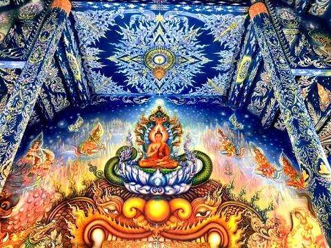 Câu chuyện về Đức Phật được vẽ trên tường