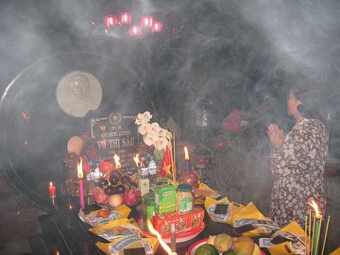 Khu tâm linh, linh thiêng ở mộ Võ Thị Sáu