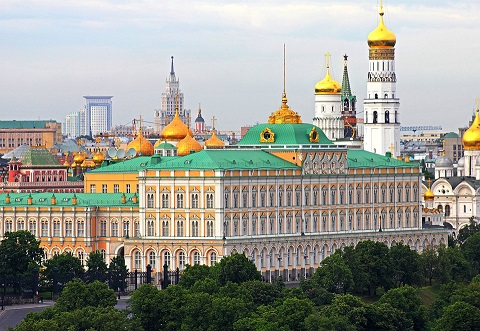 Du lịch Moscow Nga thăm Điện Kremlin