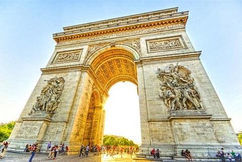 Khải Hoàn Môn công trình kiến trúc đẹp ở Pháp