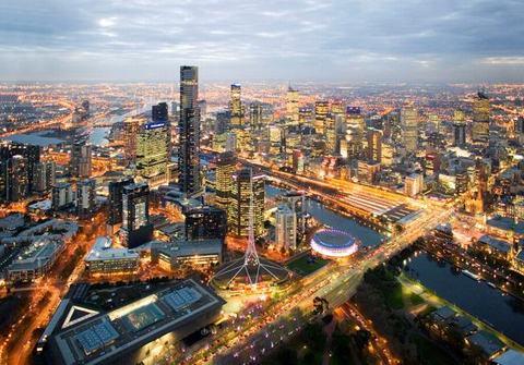 Du lịch Úc ngắm nhìn Melbourne nhìn từ trên cao