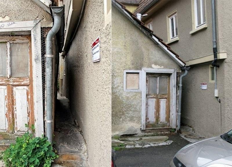 Đây thực sự là một con hẻm rất hẹp, được gọi là phố Spreuerhofstraße, nằm giữa hai ngôi nhà.