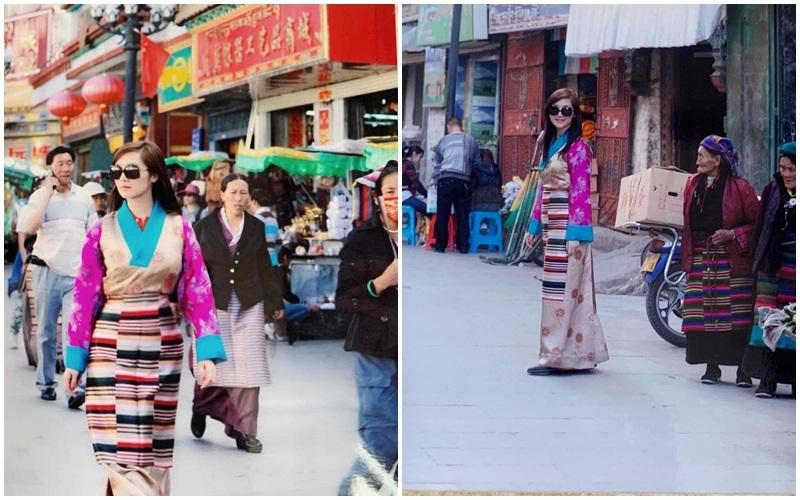 Hoa hậu xinh đẹp trong trang phục Tây Tạng truyền thống