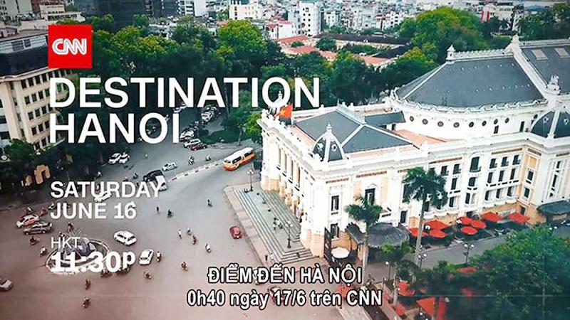 Hà Nội quảng cáo trên CNN