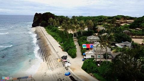 Homestay ở đảo Bé Lý Sơn nhìn trên cao xuống rực rỡ sắc màu