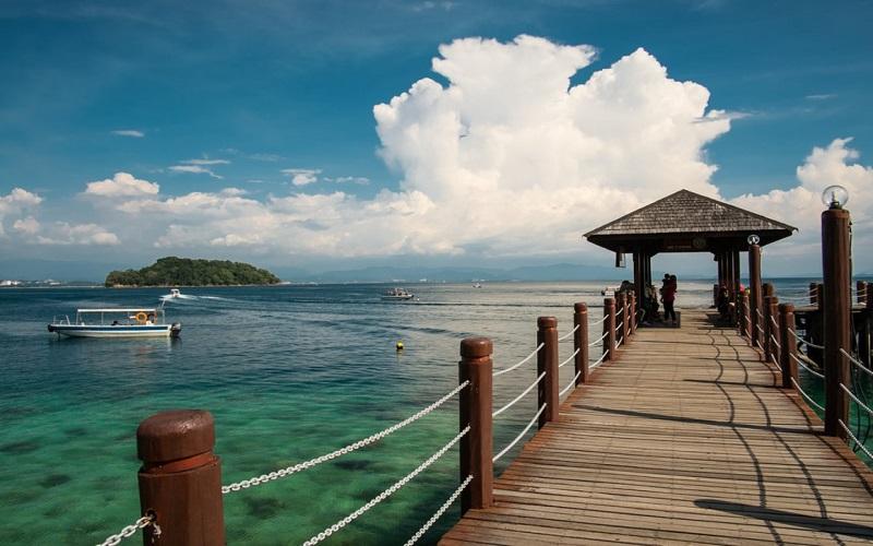 Đảo Manukan có một số bãi biển đẹp nhất của Sabah