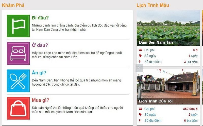 cổng thông tin du lịch Nghệ An