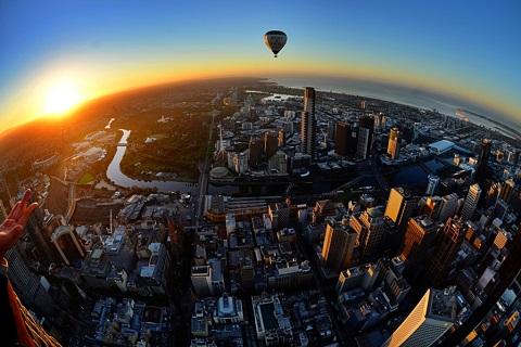 Ngắm Melbourne từ trên khinh khí cầu