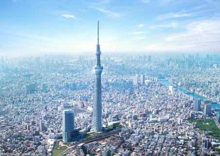 Tháp phát sóng Tokyo Sky Tree ở Tokyo