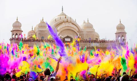 Lễ hội màu sắc Holi ở Ấn Độ