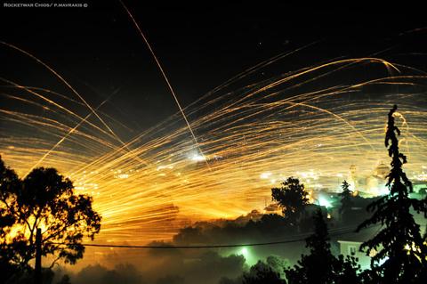 Lễ hội War Rocket Rouketopolemos Hy Lạp.